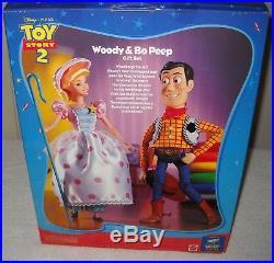 #10092 RARE NRFC Mattel Disney Pixar Toy Story 2 Woody & Bo Peep Doll Giftset