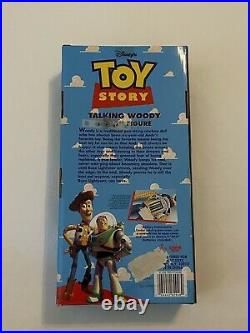 1995 Disney Toy Story Talking Woody Doll Press Button on Shirt Thinkway RARE