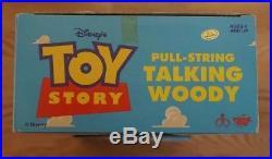 1995 Disney Toy Story Thinkway Toys Pull-String Talking Woody NIB Working