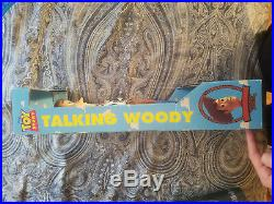 1995 Toy Story DISNEY Original Pull String TALKING WOODY Doll 16 Thinkway MIB