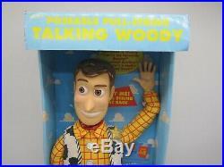 1995 Toy Story DISNEY Original Pull String TALKING WOODY Doll 16 Thinkway Toys