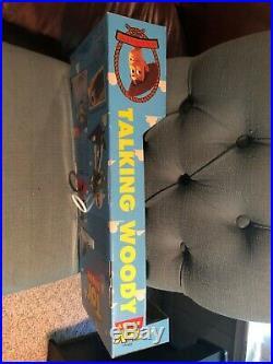 1995 Vintage THINKWAY TOY STORY TALKING WOODY DOLL NIB Some Wear In Box