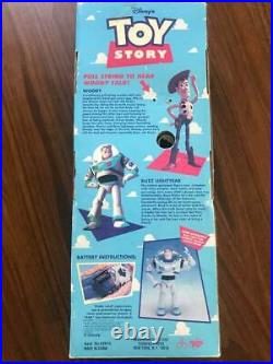 1995 Walt Disney Toy Story Talking Pull String Woody Parlant Doll 1 Edition used