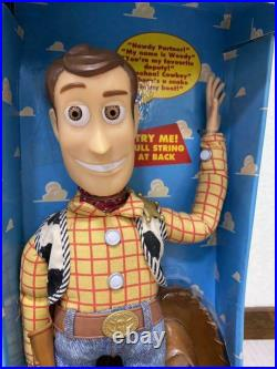 1995 Walt Disney Toy Story Talking Pull String Woody Parlant Doll 1st Edition