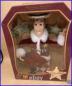 1999 Mattel Holiday Hero Series Toy Story Woody Figure Doll. New Old Stock