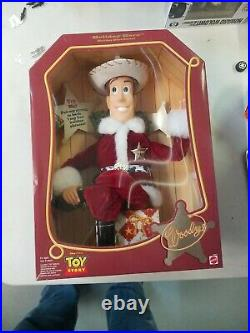 1999 Mattel Holiday Hero Series Toy Story Woody Figure Doll. New Old Stock MISB