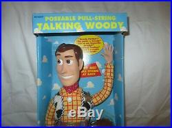 1st Ed. Toy Story Poseable Talking Woody Thinkway 1995 Disney Pixar NEW WORKS