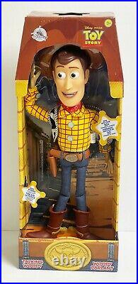 2018 Disney Store Toy Story Pull-String Woody 15 Talking Doll Figure RETIRED