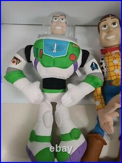 2 Disney Toy Story Large Woody Doll 32 & Large Buzz Lightyear 26 Vintage P&P