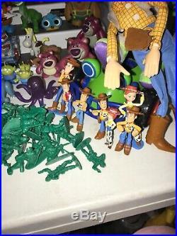 95 Huge Lot of Pixar Toy Story Figures Dolls Buzz Jessie Woody