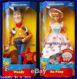 Bo Peep Doll Woody Disney Toy Story 2 Separate Boxes NRFB Lot 2 VG
