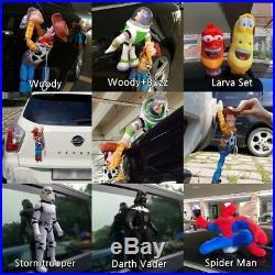 Cartoon Character Toy Story Woody Buzz Set Exterior Car Decor Accessory Doll