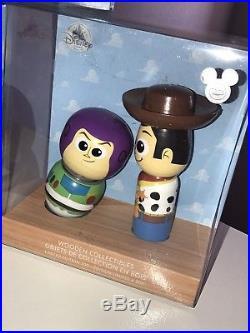 D23 Disney Wood Doll x 3 Moana Maui Toy Story Woody Buzz Frozen Anna Elsa LE 300