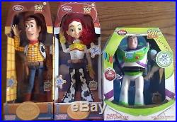 Disney 20th Anniversary Toy Story Woody Jessie Buzz 15 Talking Dolls Set NIB