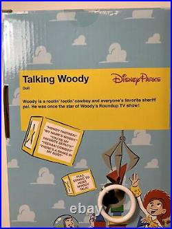 Disney Parks Collectors Talking Woody Jessie Toy Story Pull String 16 Figure