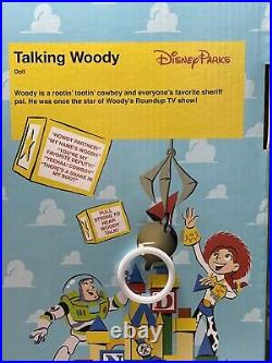 Disney Parks Talking Woody & Jessie 16 Dolls Pull String FREE GIFT WRAPPING