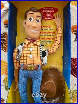 Disney Pixar 1999 Toy Story 2 Pull String Talking Woody by Thinkway Toys 68027
