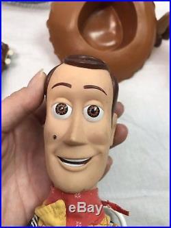 73783bd05 Disney Pixar Hasbro Toy Story Lot dolls Woody Jessie Buzz talking Rex Slinky
