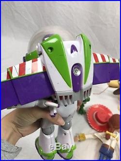 Disney Pixar Hasbro Toy Story Lot dolls Woody Jessie Buzz talking Rex Slinky