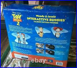 Disney Pixar Toy Story 2 Woody Jessie Interactive Buddies Talking Mint