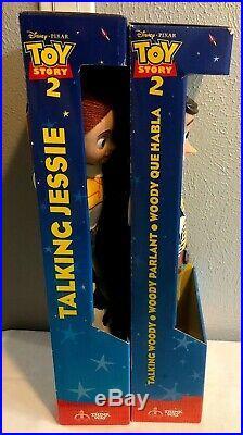 Disney Pixar Toy Story 2 Woody & Jessie Pull String 14 Dolls Brand New In Box