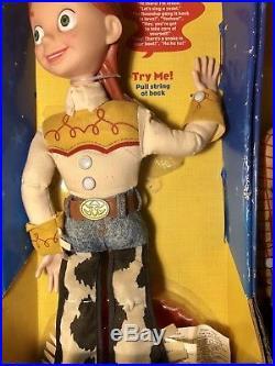 Disney Pixar Toy Story 2 Woody & Jessie Pull String Talking Dolls