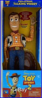 Disney Pixar Toy Story 2 Woody Pull String Very Rare Bnib Doll Collectible