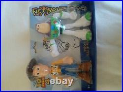 Disney Pixar Toy Story 4 Flextreme dual pack Woody Buzz Lightyear bendable New