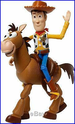 Disney Pixar Toy Story 4 Woody Doll & Bullseye 2 Pack Action Figures Mattel