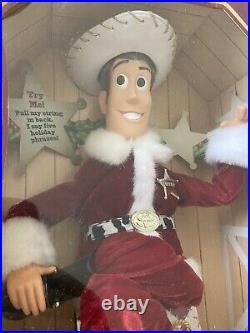 Disney Pixar Toy Story Holiday Hero Christmas Woody Mattel 1999 Brand New