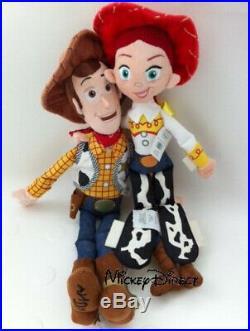 Disney Pixar Toy Story JESSIE 41cm & WOODY 46cm Plush Dolls Buzz & bullseye