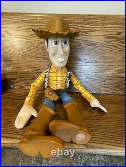 Disney Pixar Toy Story Large Woody Doll 32 and Large Buzz Lightyear 26