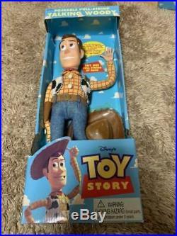 Disney Pixar Toy Story Poseable Pull-String Talking Woody Doll Rare Vintage 20
