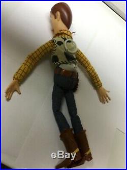 Disney Pixar Toy Story Pull String Talking Woody Doll w Hat 15 Talks