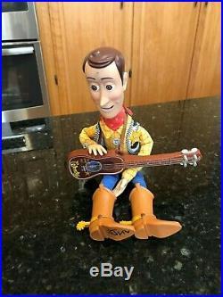 Disney Pixar Toy Story Talking sheriff Woody Pull String Doll with guitar plush