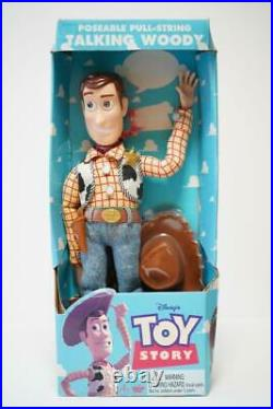 Disney Pixar Toy Story Woody Poseable Talking Pull-string Doll First Edition
