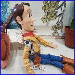 Disney Pixar Toy Story Woody Talking (Pull string) Doll with Guitar Hasbro 2005