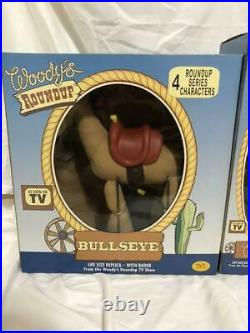 Disney Pixar Toy Story Young Epoch Round Up Woody Plush Figure Doll Vintage 27