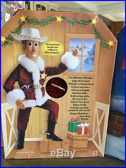 Disney Pixars Toy Story Christmas Woody Doll Pull String & Buzz Lightyear