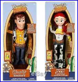 Disney Store Exclusive Toy Story Talking Woody and Jessie Pull String Dolls 15