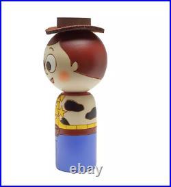 Disney Store Japan Wooden Doll KOKESHI Toy Story Woody H4.4in Creative Usaburo