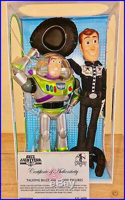 Disney Store Limited Edition Talking Woody and Buzz Lightyear Action Figure Doll