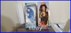 Disney Store Toy Story 4 Little Bo Peep and Woody 15 Inch Talking Dolls with Bag