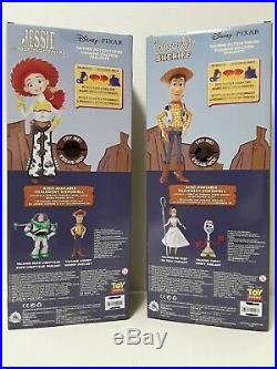 Disney Store Toy Story Interactive Talking Pull String 15 Woody & Jessie Doll