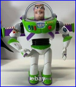 Disney Store Woody with Hat & Buzz Lightyear and Zork Toy Doll Figure 12 & 15