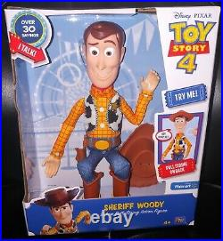 Disney TOY STORY 4 WOODY DELUXE PULL STRING TALKING DOLL! Brand New CUTE