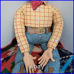 Disney TOY STORY Woody 1995 Promotional Frito-Lay Thinkway 4ft Life Size Doll