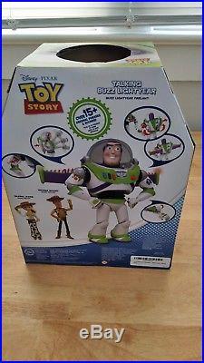 Disney Toy Story (2016) Talking Buzz Lightyear 12 AND Talking Woody Doll 16