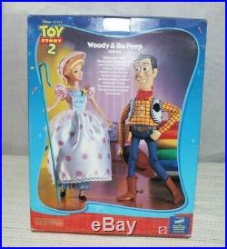 Disney Toy Story 2 Pixar Woody and Bo Peep Doll Gift Set New in Box Rare Plush