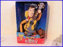 Disney Toy Story 2 Strummin Singin WOODY DOLL with guitar NIB